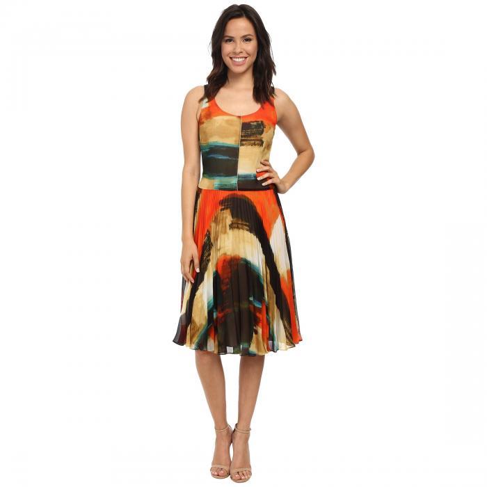 LONDON TIMES ラップ ドレス レディースファッション ワンピース レディース 【 Wrap Fit And Flare Dress 】 Ivory/pink