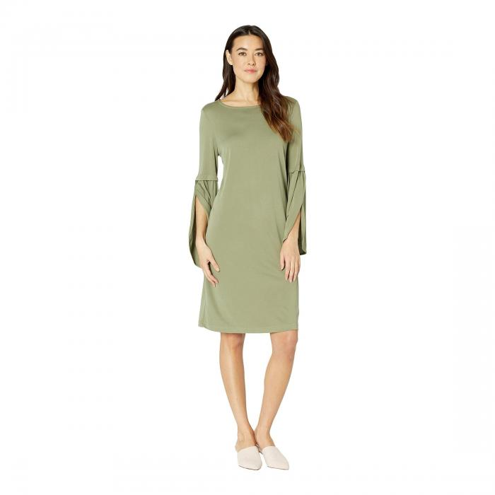 TRIBAL ニット スリーブ ドレス レディースファッション ワンピース レディース 【 Textured Knit Bell Sleeve Dress 】 Sage