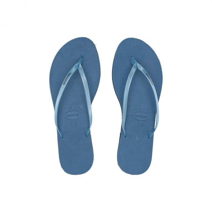 HAVAIANAS レディース 【 You Metallic Flip Flops 】 Steel Blue