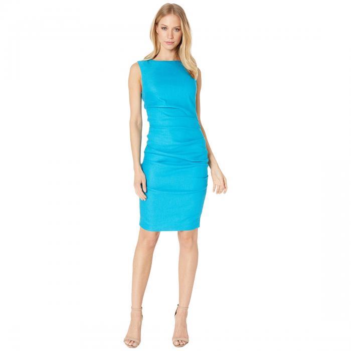 NICOLE MILLER ドレス レディースファッション ワンピース レディース 【 Lauren Stretch Linen Dress 】 Carribean