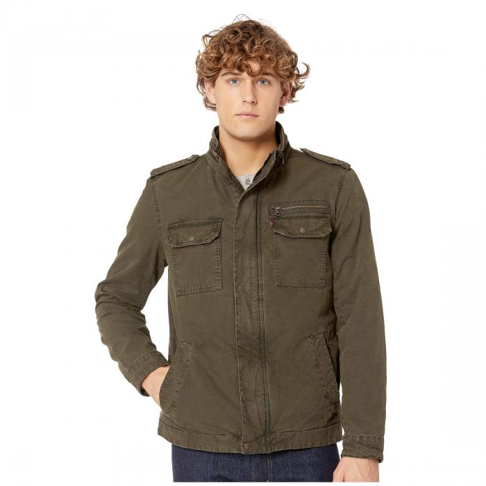 LEVI'S オリーブ LEVI'S 【 OLIVE TWOPOCKET MILITARY JACKET WITH POLYTWILL LINING 】 メンズファッション コート ジャケット