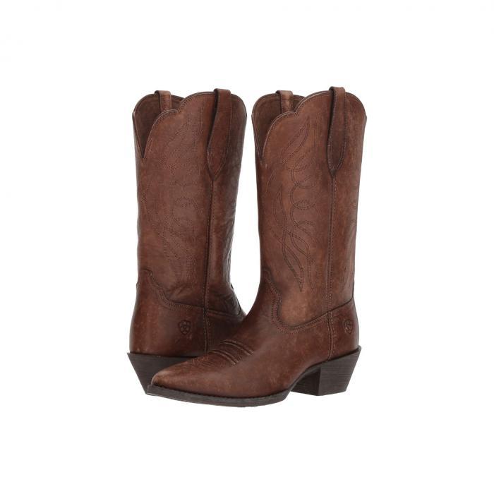 アリアト ARIAT レディース 【 Heritage Western R Toe 】 Naturally Distressed Brown