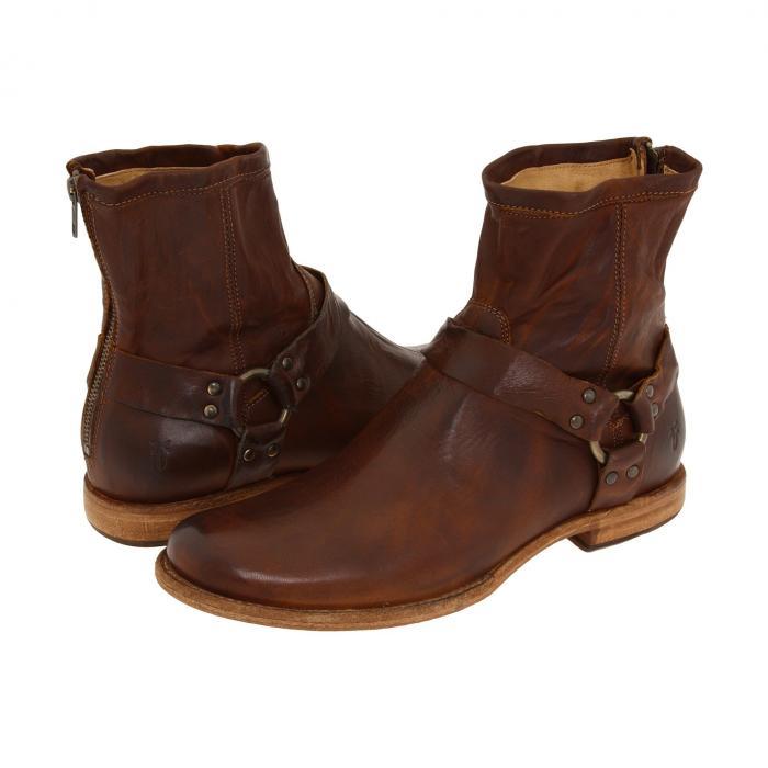 【★スーパーセール中★ 6/11深夜2時迄】FRYE メンズ ブーツ 【 Phillip Harness 】 Cognac Vintage Leather