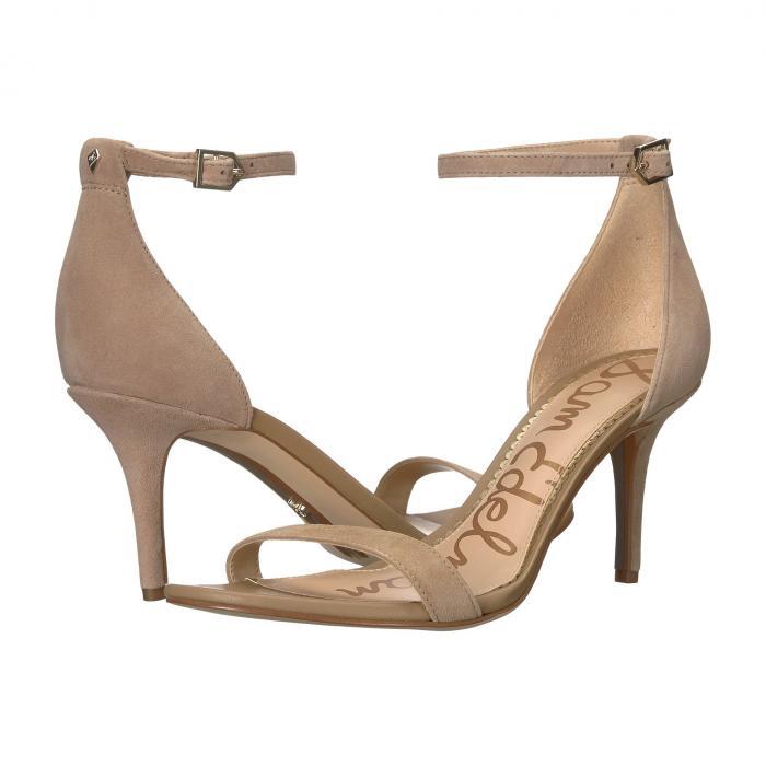 SAM EDELMAN ストラップ レディース 【 Patti Ankle Strap Heeled Sandal 】 Oatmeal Suede Leather