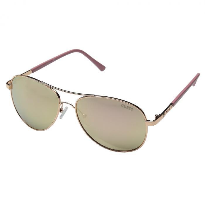 GUESS ローズ 金色 ゴールド 【 ROSE GUESS GF0295 GOLD MIRROR LENS 】 バッグ  眼鏡