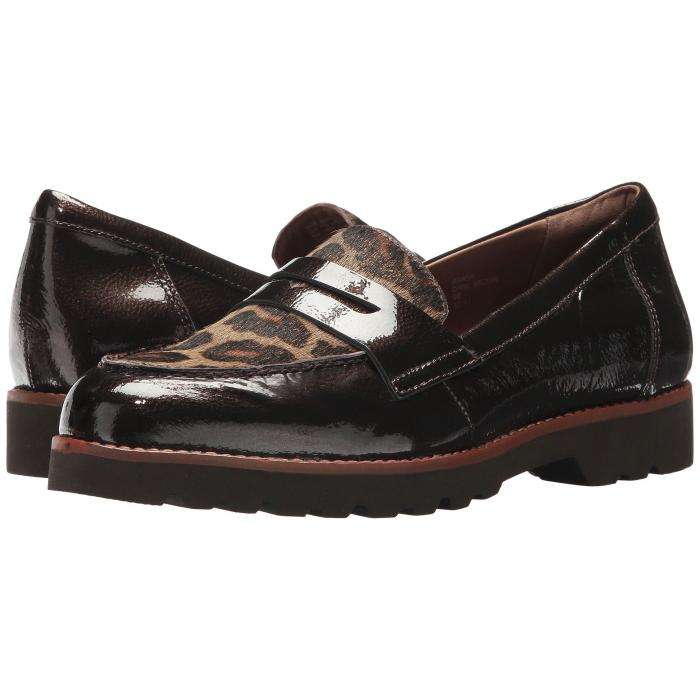 アース EARTH レディース 【 Braga Ies 】 Dark Brown Pearlized Patent