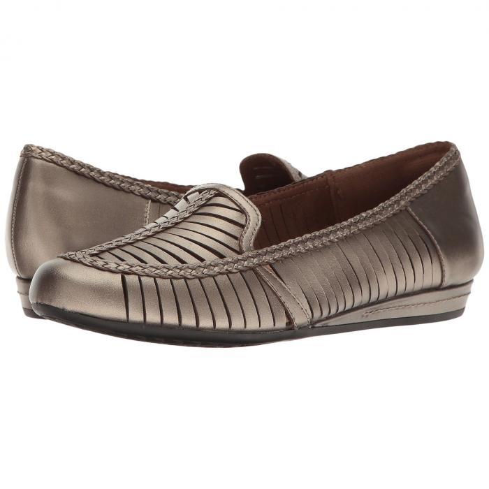 コブヒル COBB HILL ウーブン レディース 【 Galway Woven Loafer 】 Pewter Leather