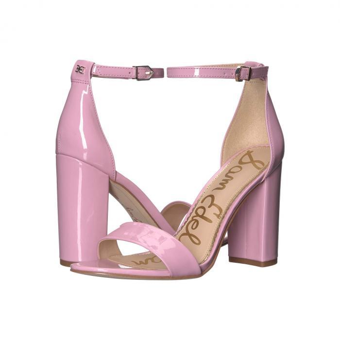 SAM EDELMAN ストラップ レディース 【 Yaro Ankle Strap Sandal Heel 】 Pink Orchid Patent
