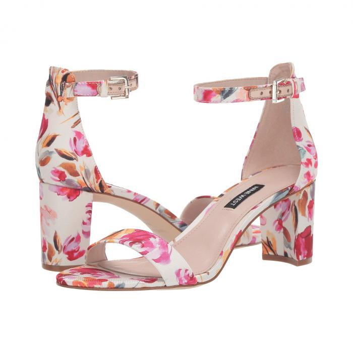 NINE WEST レディース 【 Pruce Block Heel Sandal 】 Pink Multi Fabric