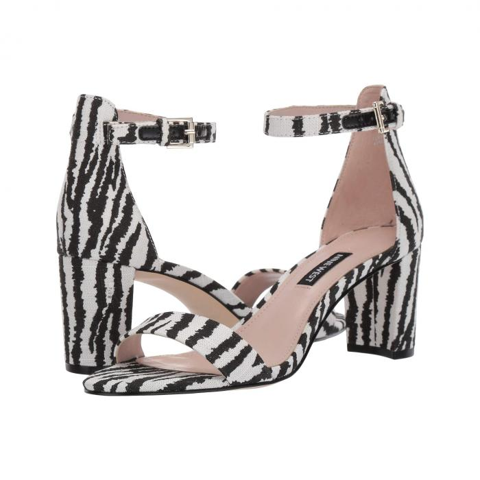 NINE WEST レディース 【 Pruce Block Heel Sandal 】 Black/white Multi