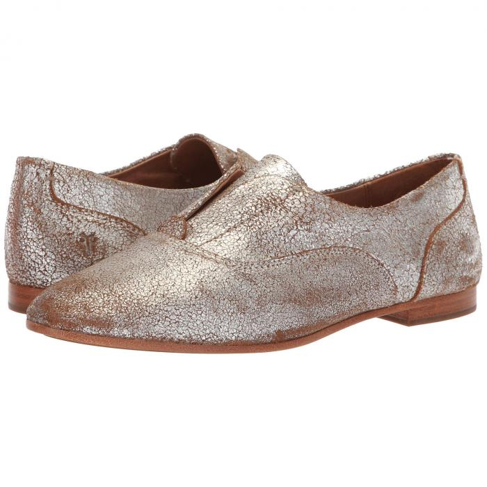 FRYE スリッポン レディース 【 Terri Slip-on 】 Silver Multi Brushed Metallic