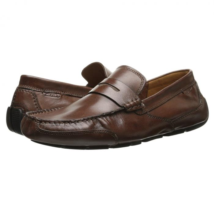 クラークス CLARKS メンズ ローファー 【 Ashmont Way 】 Cognac Smooth Leather
