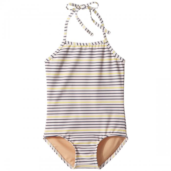 TOOBYDOO 【 READY FOR THE BEACH ONEPIECE SWIMSUIT INFANT TODDLER LITTLE KIDS BIG NAVY YELLOW 】 キッズ ベビー マタニティ ベビー服 ファッション 送料無料