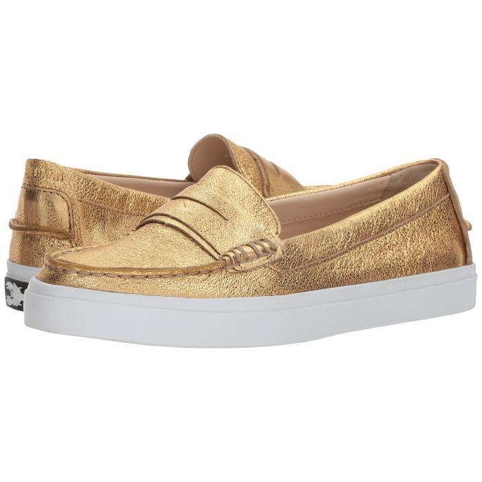 コールハーン COLE HAAN レディース 【 Pinch Luxe 】 Gold Soko Wash/ch Gold Leather/optic White