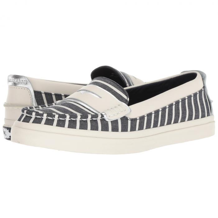 コールハーン COLE HAAN レディース 【 Pinch Weekender Luxe 】 Nautical Stripe Canvas/ivory Leather/ivory