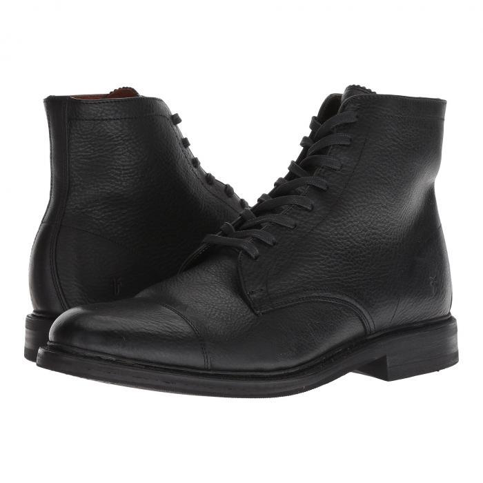 【NeaYearSALE1/1-1/5】FRYE キャップ 帽子 【 SETH CAP TOE LACEUP BLACK 】 メンズ ブーツ 送料無料
