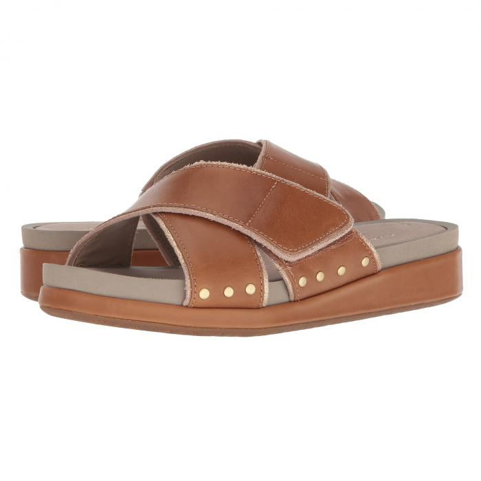 HUSH PUPPIES サンダル レザー 【 SLIDE HUSH PUPPIES CHRYSTA XBAND TAN LEATHER 】