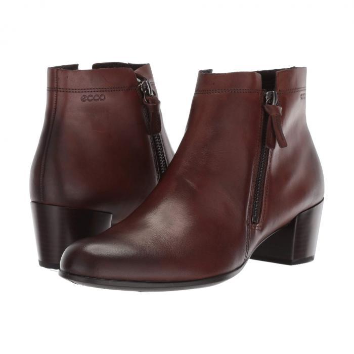 エコー ECCO レディース 【 Shape M 35 Ankle Bootie 】 Brown Full Grain Leather