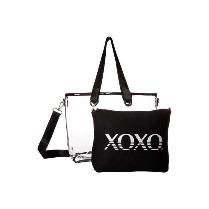 XOXO ロゴ 黒 ブラック 【 BLACK XOXO CLEAR TOTE W LOGO CLUTCH 】 バッグ