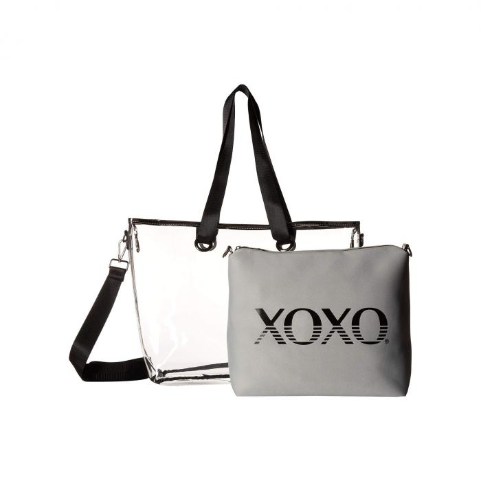 XOXO ロゴ 灰色 グレー グレイ 【 GRAY XOXO CLEAR TOTE W LOGO CLUTCH 】 バッグ