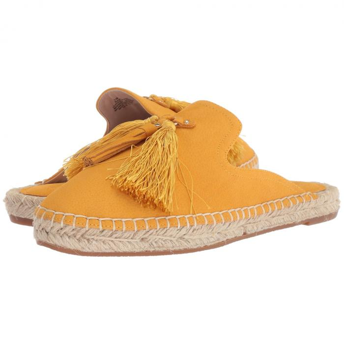 NINE WEST 黄色 イエロー レザー 【 YELLOW NINE WEST VAL ESPADRILLE MULE LEATHER 】