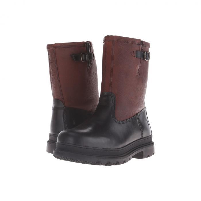 FRYE 黒 ブラック スムース 【 BLACK FRYE RILEY PULL ON MULTI WP SMOOTH UP 】 メンズ ブーツ