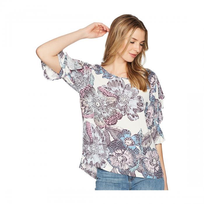 Cotton Candy LA Womens Floral Deep Vneck Crush Cami