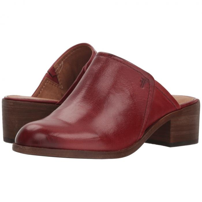 FRYE レディース 【 Claire Mule 】 Red Clay Waxed Full Veg