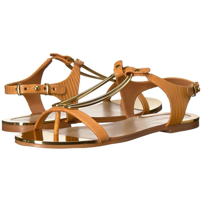 ダナキャラン DONNA KARAN レディース 【 Kaden Sandal 】 Yellow Two-tone Embossed Lizard