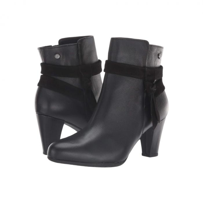 HUSH PUPPIES ブーツ レディース 【 Meaghan Bow Boot 】 Black Leather