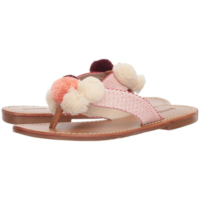 SOLUDOS レディース 【 Capri Pom Pom Sandal 】 Red/natural