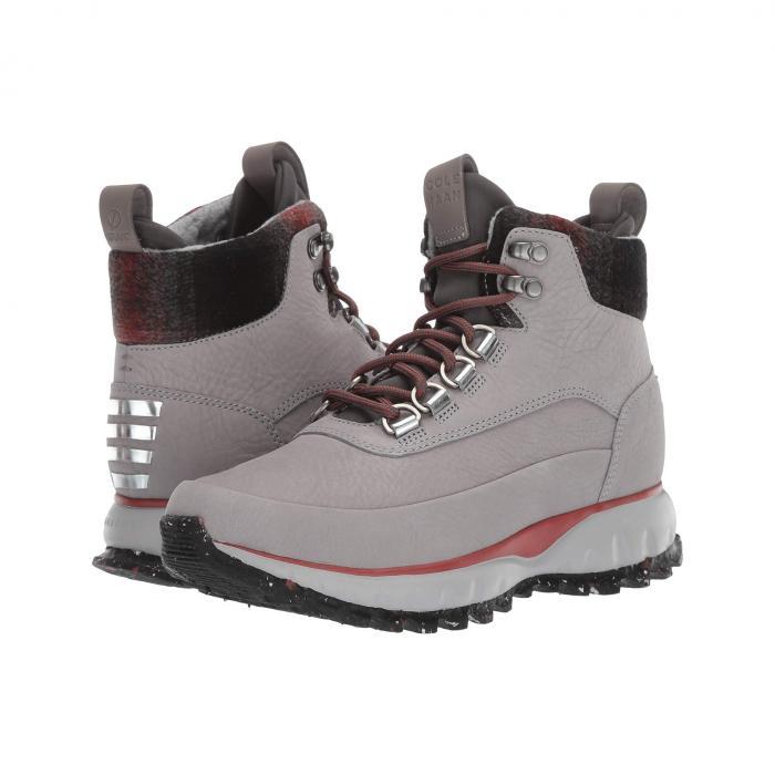 コールハーン COLE HAAN レディース 【 Zerogrand Explore All-terrain Hiker Waterproof 】 Ironstone Nubuck Waterproof/plaid Wool/magnet Neoprene/red Ochre