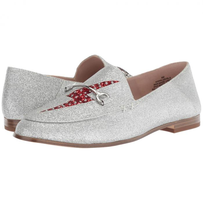 NINE WEST ワイルド レディース 【 Wild Girls Loafer 】 Silver/red Synthetic