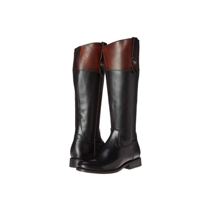 FRYE レディース 【 Jayden Button Tall 】 Black Multi Smooth Vintage Leather