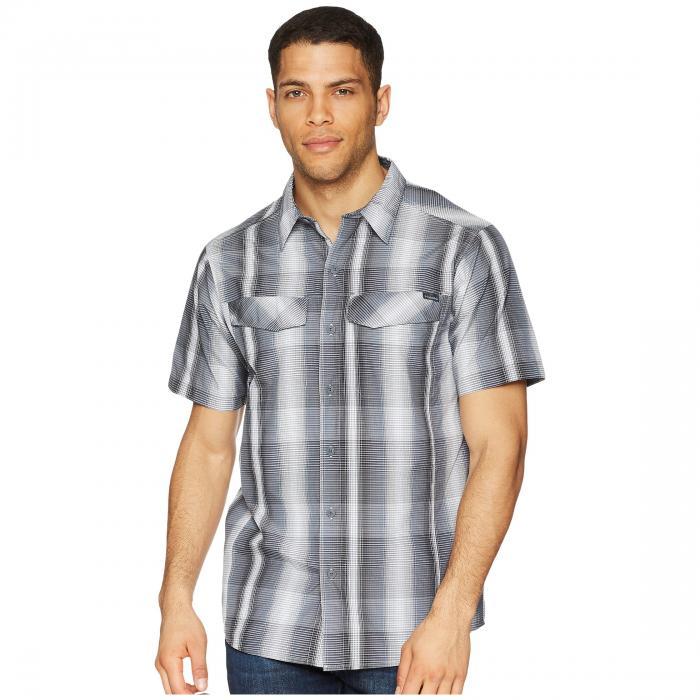 【海外限定】銀色 シルバー 半袖 Tシャツ RIDGE・・ トップス メンズファッション 【 SILVER MULTI PLAID S SHIRT 】
