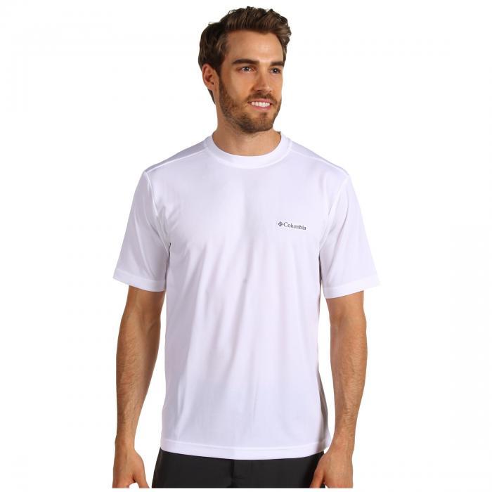 コロンビア COLUMBIA スリーブ 白 ホワイト PEAK・・ 【 SLEEVE WHITE COLUMBIA MEEKER SHORT CREW 】 メンズファッション トップス Tシャツ カットソー