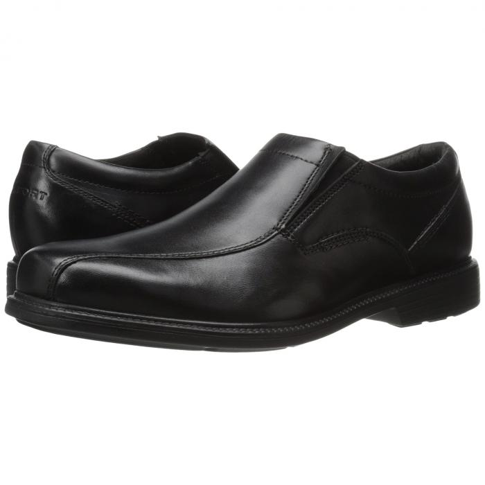 ROCKPORT スリッポン メンズ ローファー 【 Charles Road Slip-on 】 Black Leather