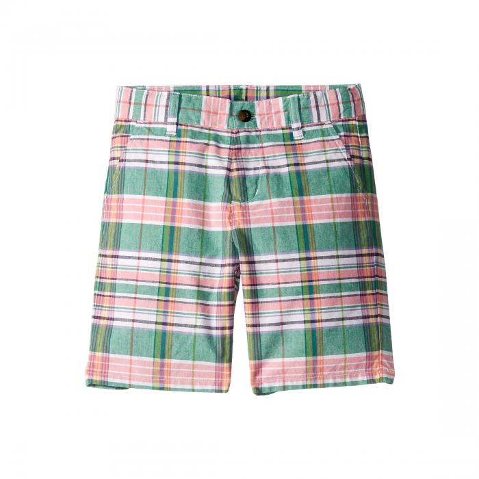 JANIE AND JACK ショーツ ハーフパンツ ピンク 緑 グリーン 【 PINK GREEN JANIE AND JACK FLAT FRONT SHORTS TODDLER LITTLE KIDS BIG PLAID 】 キッズ ベビー マタニティ ベビー服 ファッション ボトムス