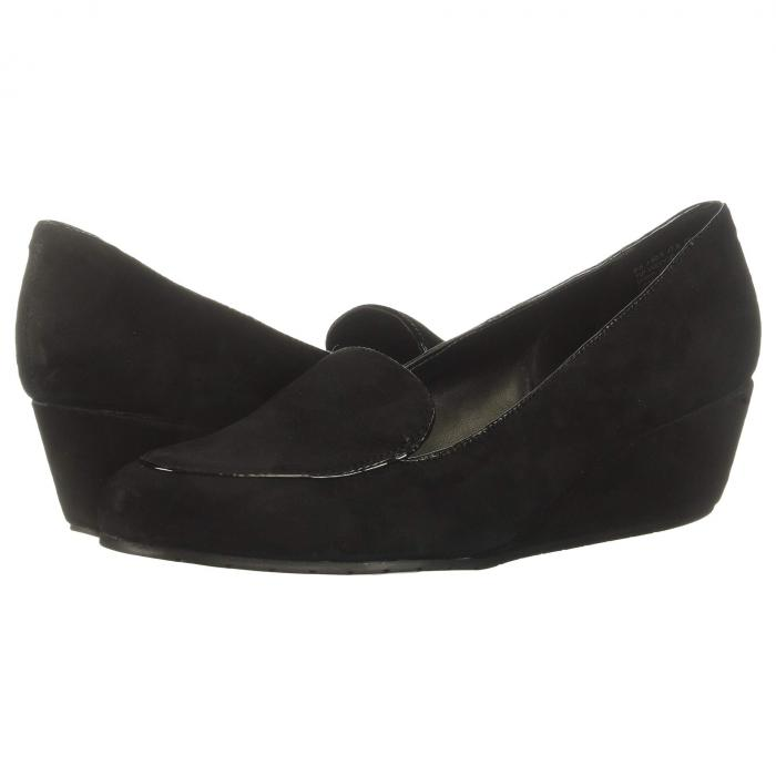 KENNETH COLE REACTION レディース 【 Tip Wedge Loafer 】 Black Suede