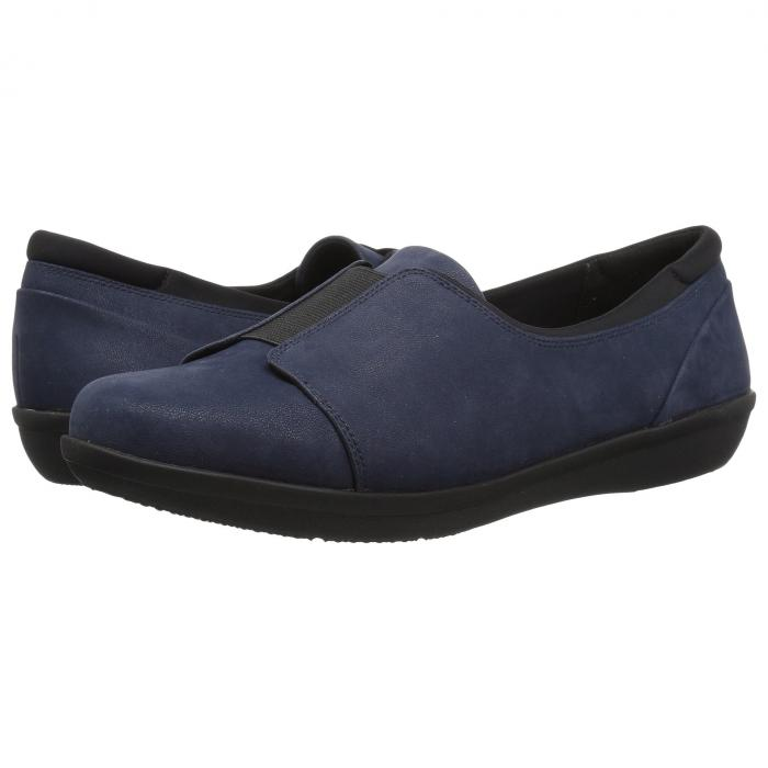クラークス CLARKS レディース 【 Ayla Band 】 Navy Synthetic Nubuck