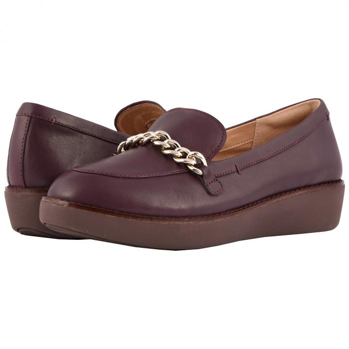 FITFLOP モカシン レディース 【 Petrina Chain Moccasin 】 Deep Plum