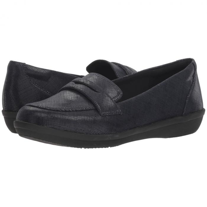 クラークス CLARKS レディース 【 Ayla Form 】 Navy Synthetic