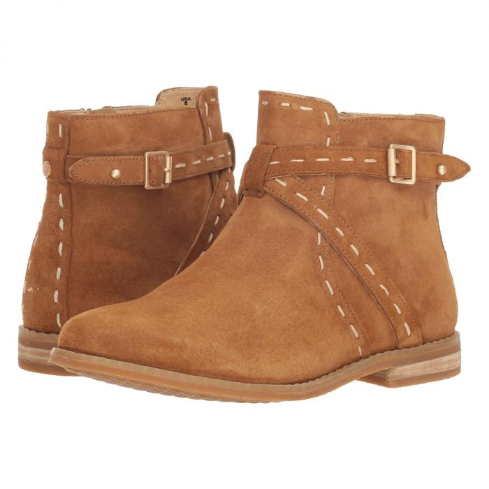 HUSH PUPPIES ベルト ブーツ レディース 【 Chardon Belt Boot 】 Camel Suede