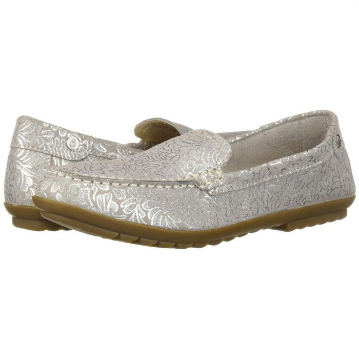 HUSH PUPPIES スリッポン レディース 【 Aidi Mocc Slip-on 】 Silver Metallic Print Leather