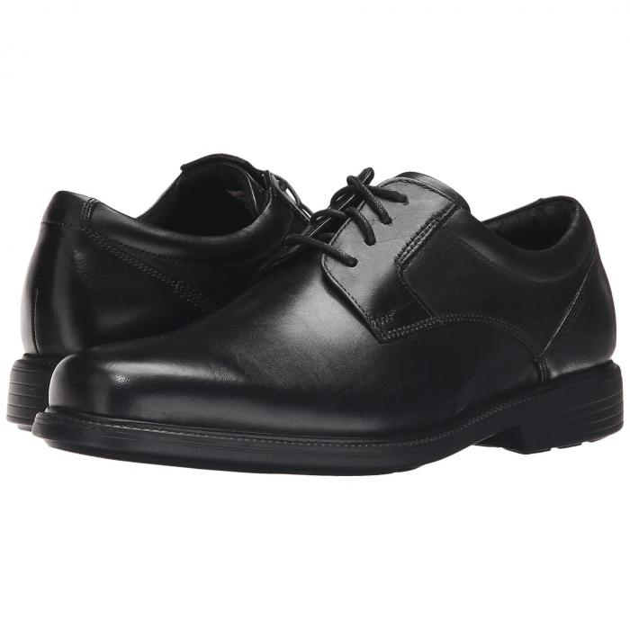 ROCKPORT オックスフォード メンズ ビジネススニーカー 【 Charles Road Plain Toe Oxford 】 Black Leather