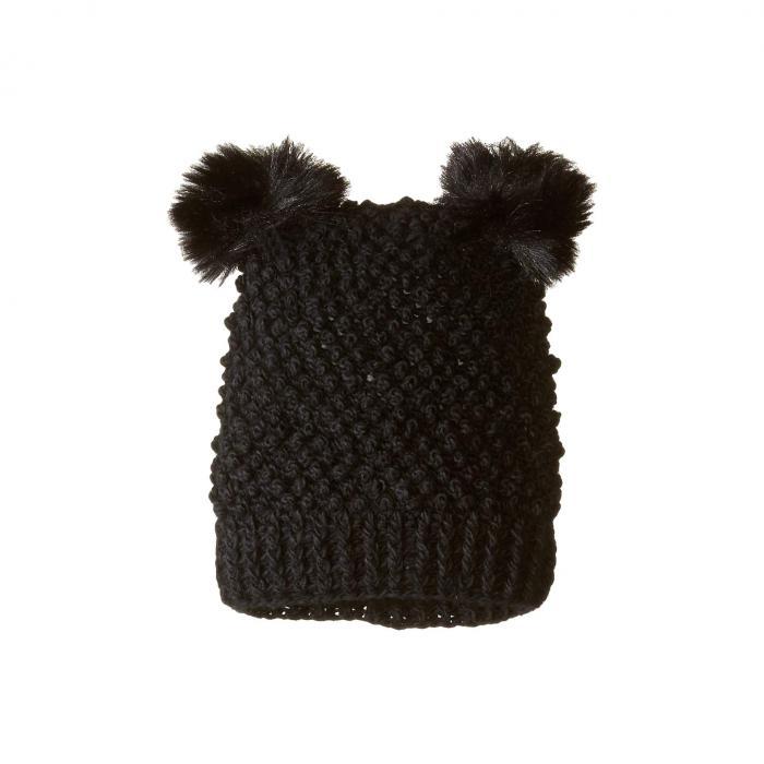 TUNDRA BOOTS KIDS ニット キッズ ベビー マタニティ ジュニア 【 Double Pom Knit Hat 】 Black