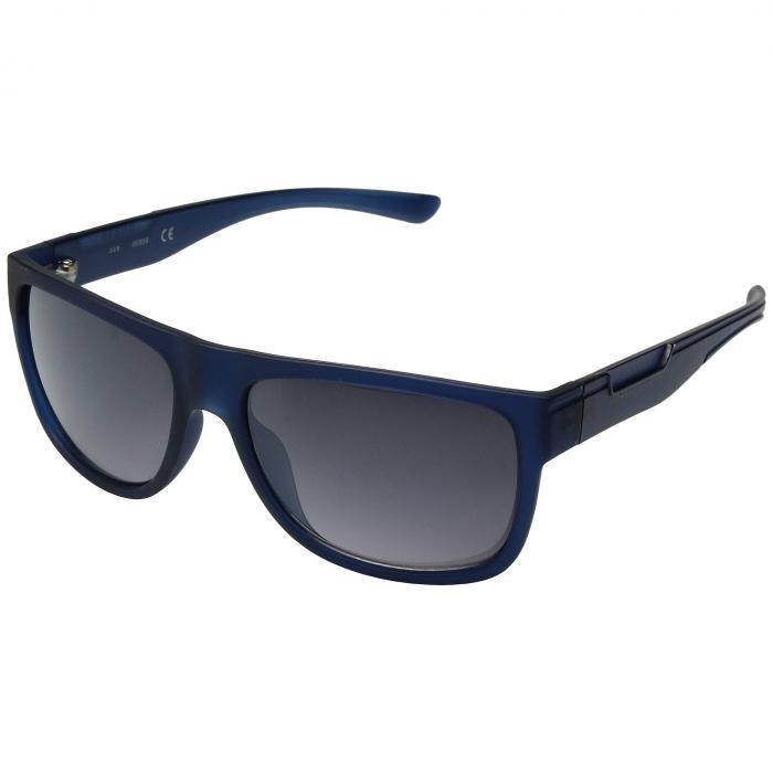 GUESS 青 ブルー 【 BLUE GUESS GF0187 MATTE GRADIENT SMOKE 】 バッグ  眼鏡