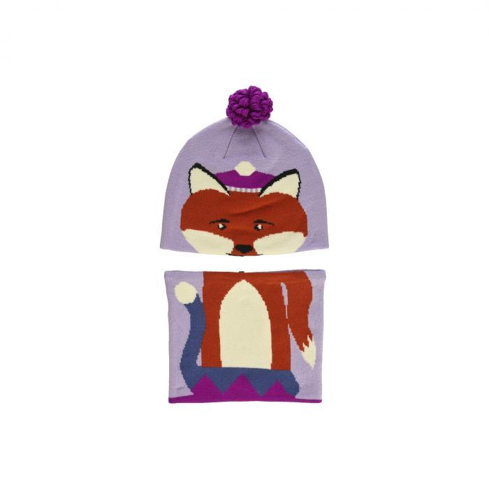 コロンビアキッズ COLUMBIA KIDS キャップ 帽子 More・・ キッズ ベビー マタニティ ジュニア 【 Snow More・・ Beanie And Gaiter Set (toddler) 】 Soft Violet Fox