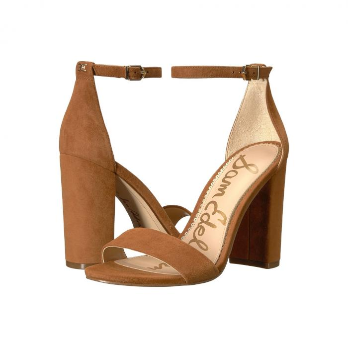 SAM EDELMAN ストラップ レディース 【 Yaro Ankle Strap Sandal Heel 】 Luggage Suede Leather