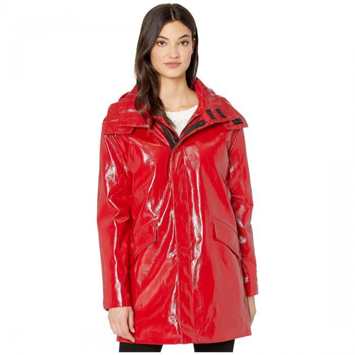 【★スーパーセール中★ 6/11深夜2時迄】AVEC LES FILLES パテント レザー レディース 【 Patent Faux Leather Raincoat 】 Bright Red